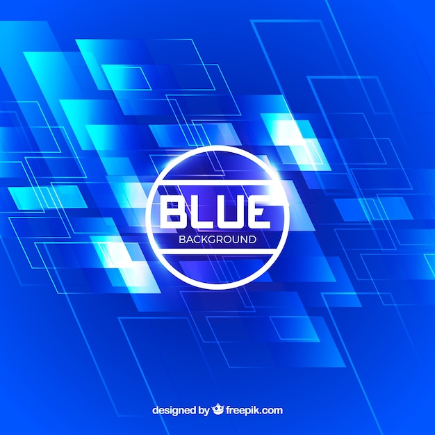 Abstract blue technological background