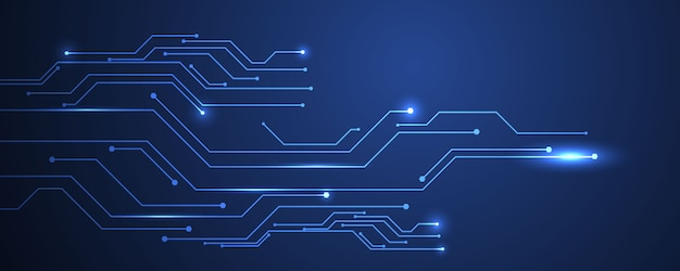 Abstract blue technology communication concept background ...