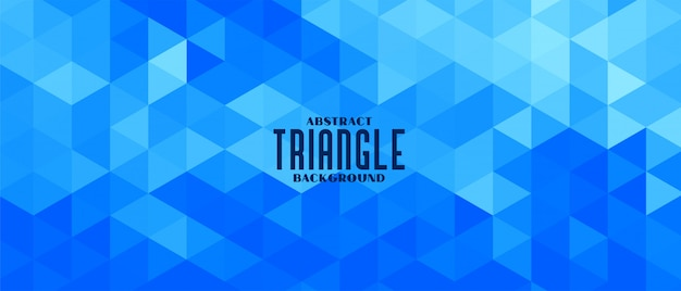 Abstract blue triangle geometric pattern banner design Free Vector