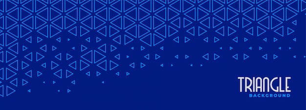 Abstract blue triangle line pattern banner design Free Vector