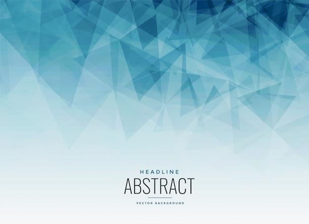 Абстрактный синий треугольник фрактальный фон Бесплатные векторы