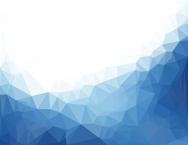 Abstract blue vector background with triangles Premium Vector