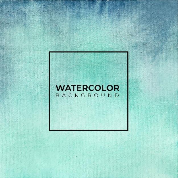 抽象的な青い水彩画の背景。手描きです。 Premiumベクター