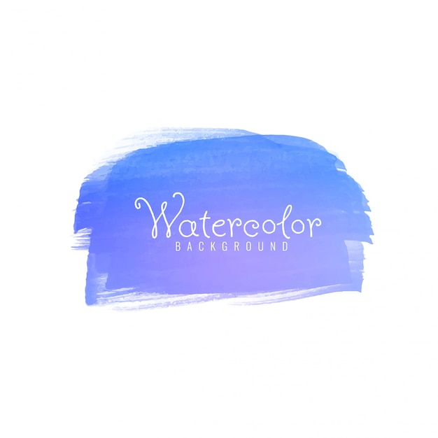Abstract blue watercolor brushstroke Free Vector