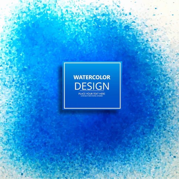 Abstract blue watercolor design background