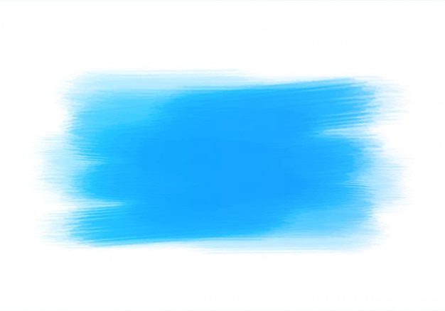 Abstract blue watercolor hand brush design Free Vector
