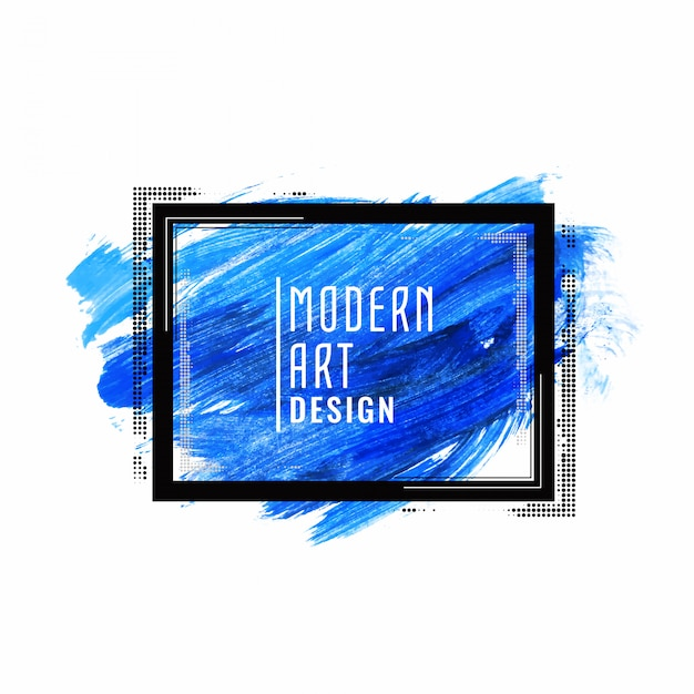Abstract blue watercolor modern banner design Free Vector
