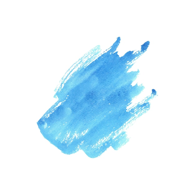 흰색 바탕에 추상 블루 수채화입니다. 프리미엄 벡터