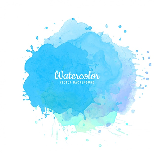Abstract blue watercolor splash background Free Vector