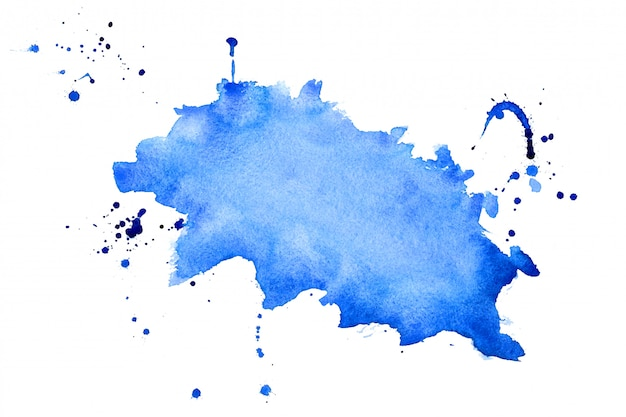 Abstract blue watercolor splatter texture background design Free Vector