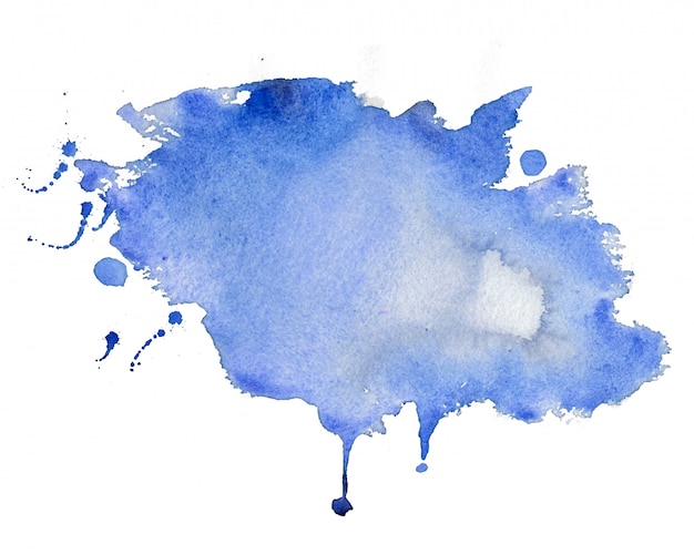 Abstract blue watercolor stain texture background Free Vector