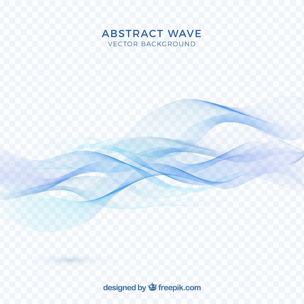 Abstract blue wave background Free Vector