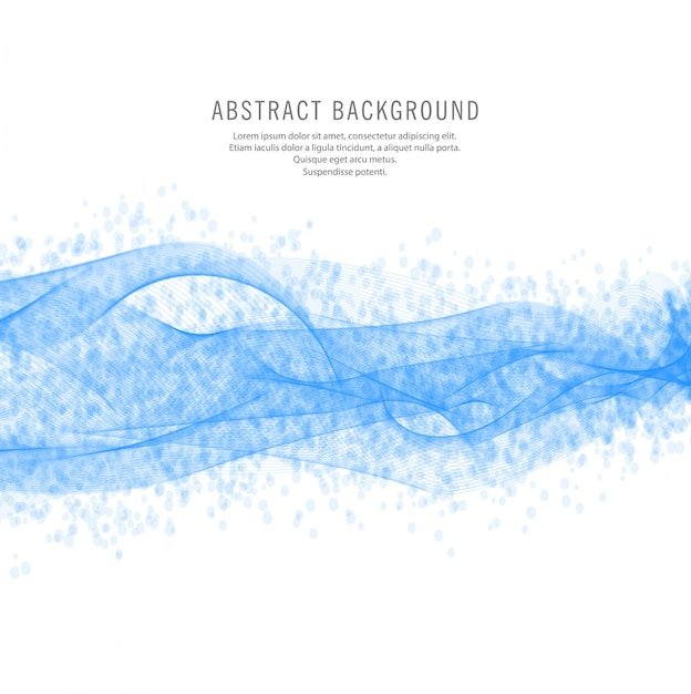 Abstract blue wave design background Free Vector