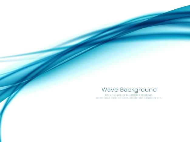 抽象的な青い波のデザインエレガントな背景ベクトル 無料ベクター