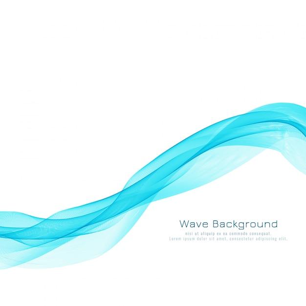 Abstract blue wave design elegant background Free Vector