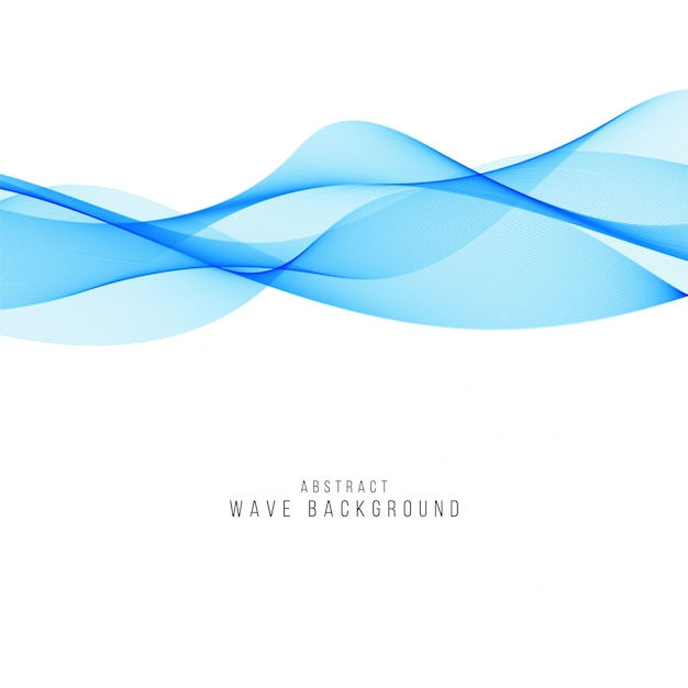 Abstract blue wave elegant background Premium Vector