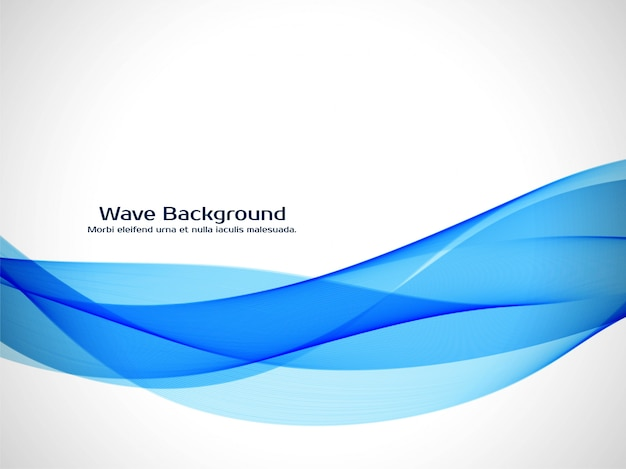 Abstract blue wave elegant background Free Vector
