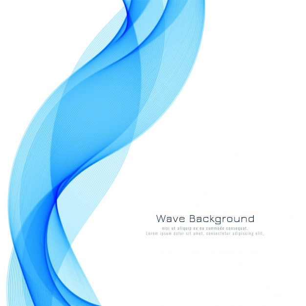Abstract blue wave modern background Free Vector