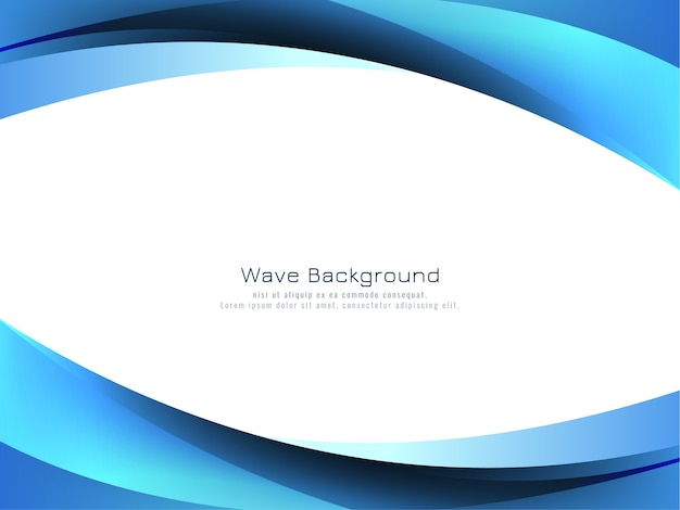 Abstract blue wave style background vector Free Vector