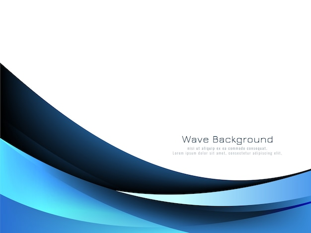 Priorità bassa blu astratta di stile dell'onda Vettore gratuito
