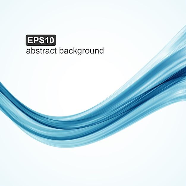 抽象的な青い波背景 Premiumベクター