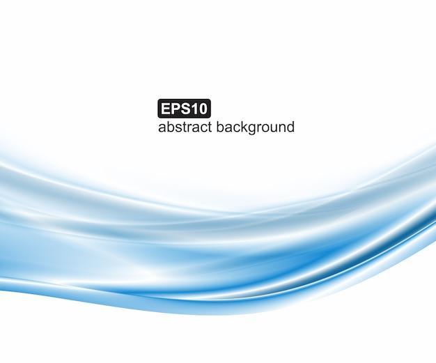 抽象的な青い波の背景 Premiumベクター