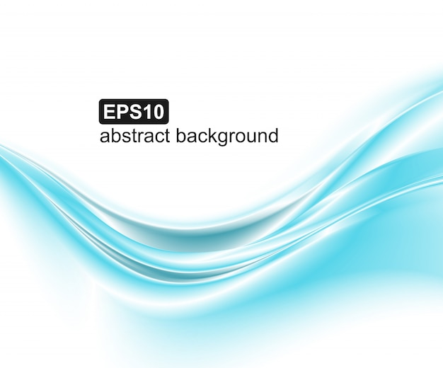 Abstract blue waves background. Premium Vector