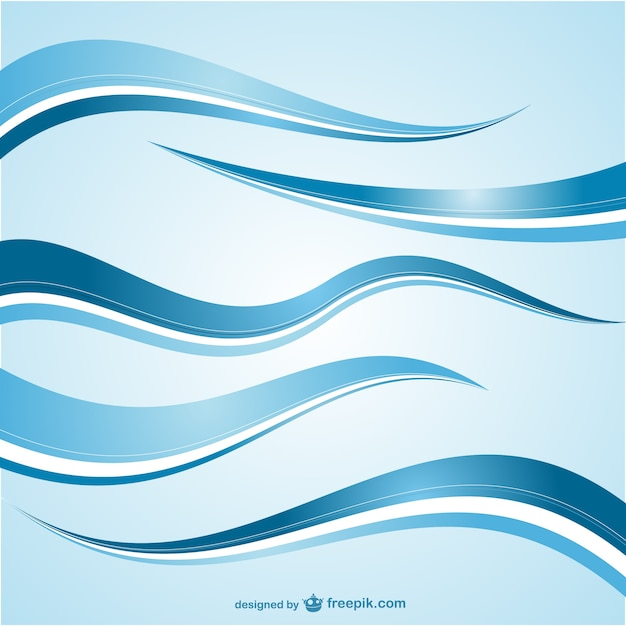 Abstract blue waves Vector | Free Download