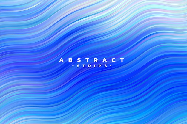 Abstract blue wavy stripes background Free Vector