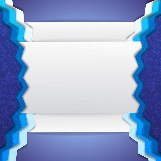 Forme incomprensibili di sfondo astratto blu e bianco con angoli e porzioni convesse Vettore gratuito