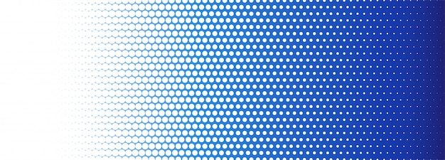 Abstract blue and white dotted banner background Free Vector