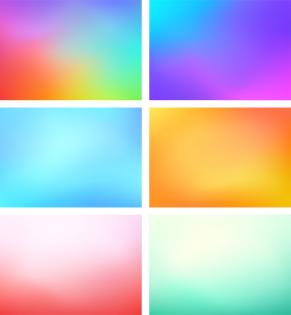 Abstract blur color gradient background set a4 landscape Premium Vector