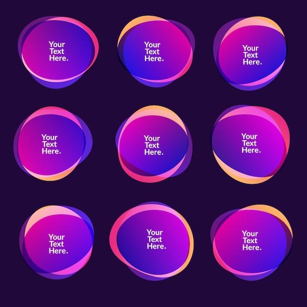 抽象的なぼかしフリーフォーム図形色グラデーション虹色色効果ソフト遷移、イラストeps10 Premiumベクター