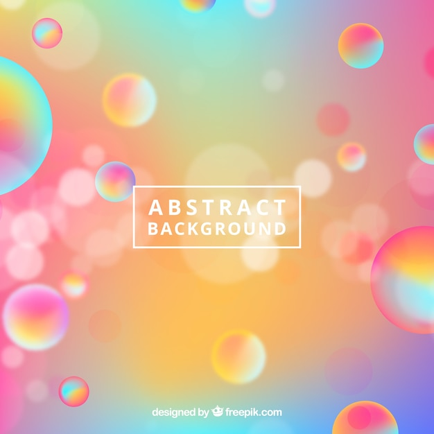 Abstract blurred background with bubbles Free Vector