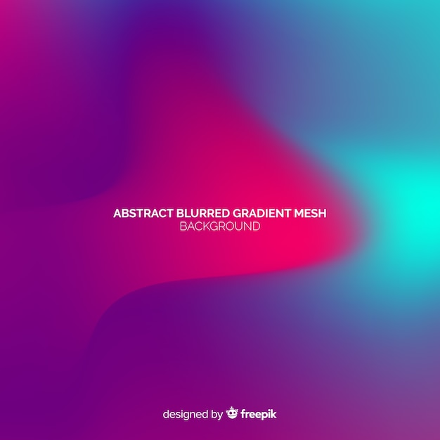 Abstract blurred gradient mesh background Free Vector