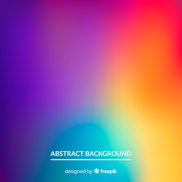 Abstract blurred gradient mesh background Premium Vector