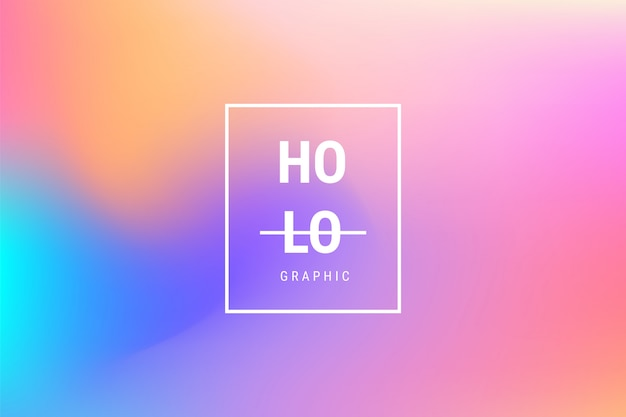 Abstract blurred holographic gradient effect background Free Vector