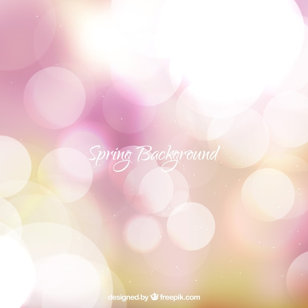Abstract blurred spring background Free Vector
