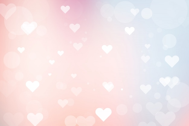 Abstract bokeh background with heart for valentine's day Premium Vector