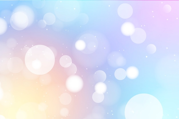 Abstract bokeh background with light Free Vector