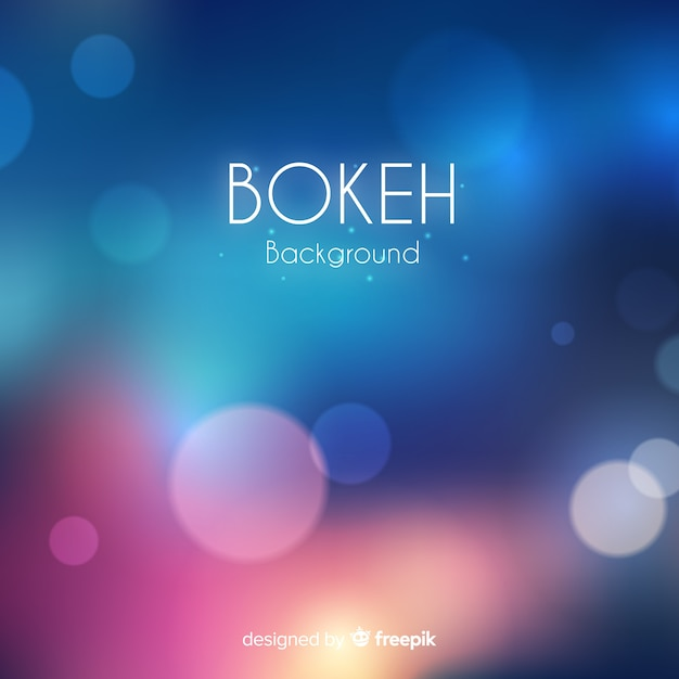 Abstract bokeh background Free Vector
