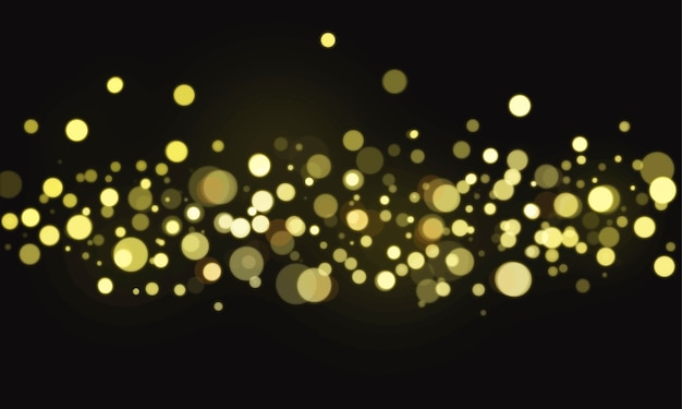 Abstract bokeh blurred lights wallpaper Free Vector