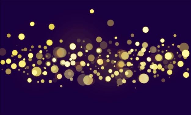 Abstract bokeh blurred lights wallpaper Free Vector