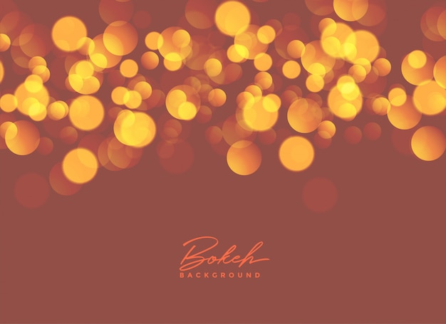 Abstract bokeh lights background design Free Vector