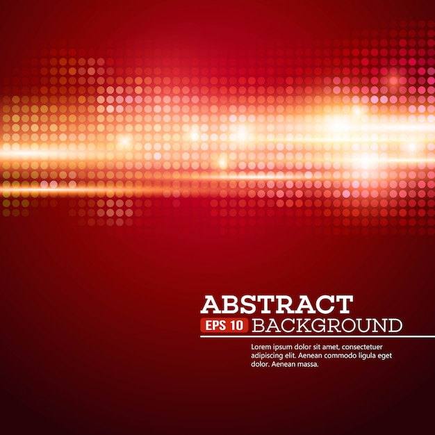 Abstract bokeh lights background. disco music. vector illustration Premium Vector