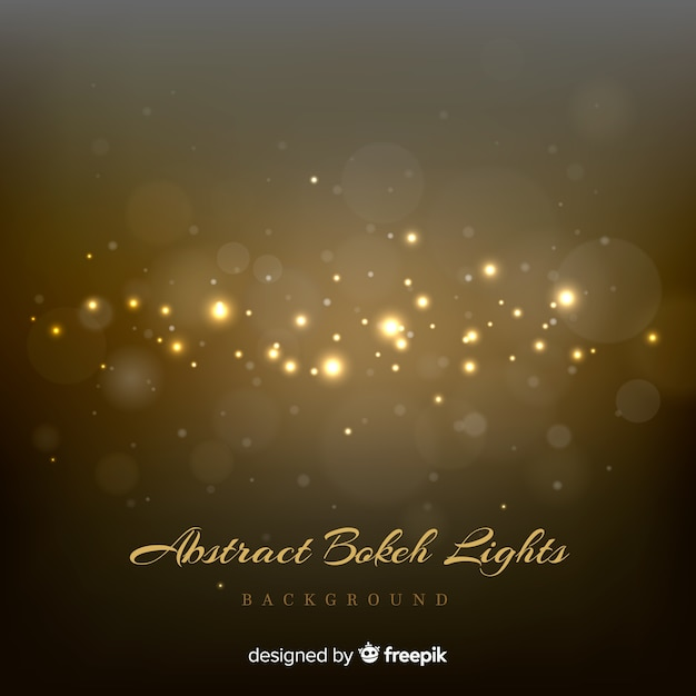 Abstract bokeh lights background Free Vector