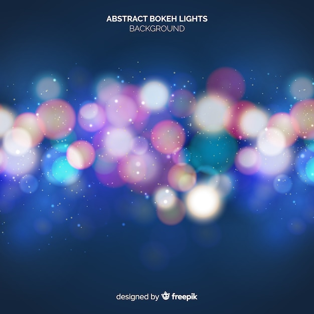 Abstract bokeh lights bakground Free Vector