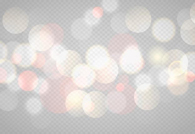 Абстрактные боке огни с мягким светлом фоне иллюстрации Premium векторы