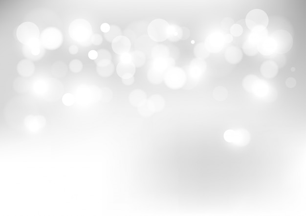 Abstract bokeh lights with soft light background. Premium Vector