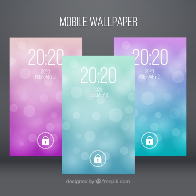 Abstract bokeh mobile wallpapers